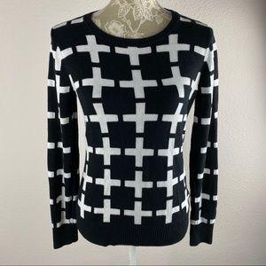 Merona Black and White Sweater Target Medium